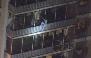 Like a real Spider-man, man climbs down 19-storey building to escape fire