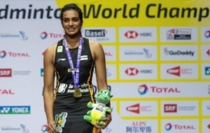 PV Sindhu returns home after BWF world championships triumph