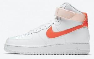 """Nike Air Force 1 High """"Orange Pearl"""" 2021 New Arrival 334031-118"""