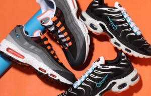 "Nike Air Max Plus ""Miami Dolphins Vibes"" CZ1651-001 And Nike Air Max 95 Grey Orange CZ0191-001"