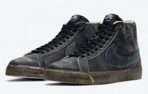"Nike SB Blazer Mid ""Faded Black"" DA1839-001 is available on March 13"