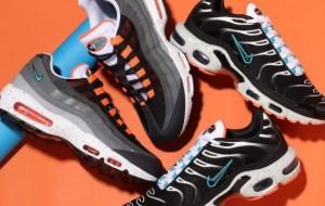"Nike Air Max Plus ""Miami Dolphins Vibes"" CZ1651-001 And Nike Air Max 95 Grey Orange CZ0191-001"